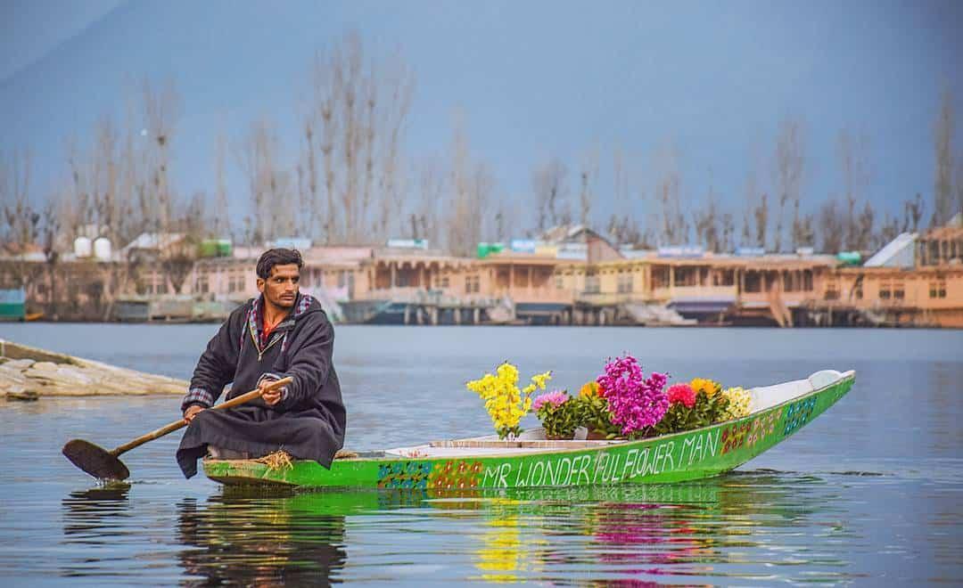 Houseboats in Dal Lake