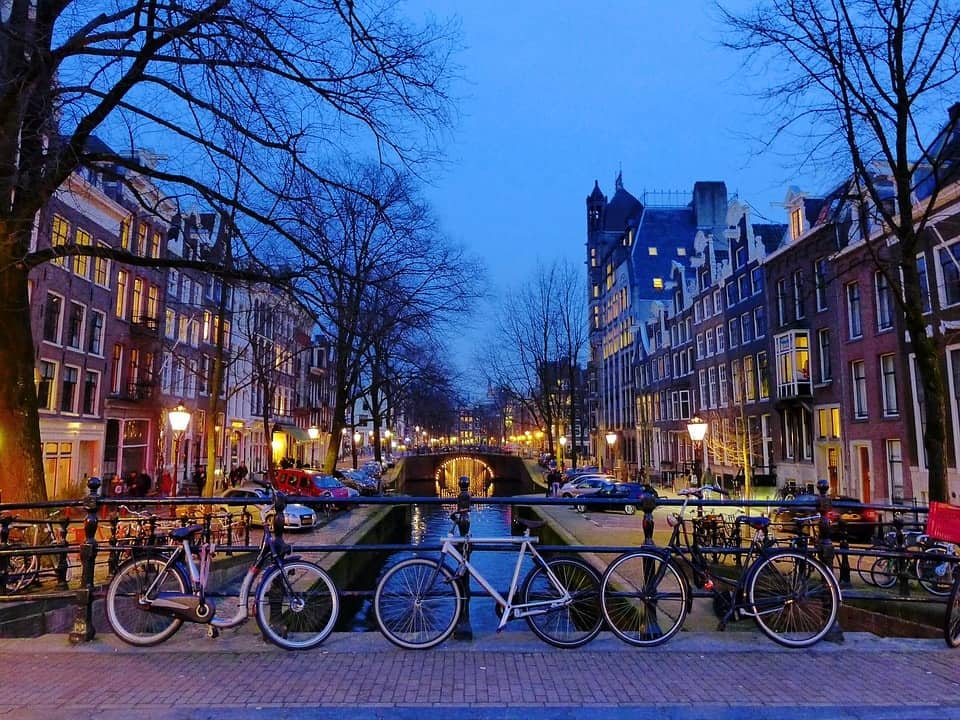 biking trip in Amsterdam