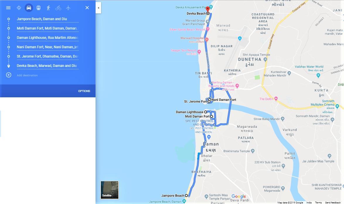 Daman two day itinerary