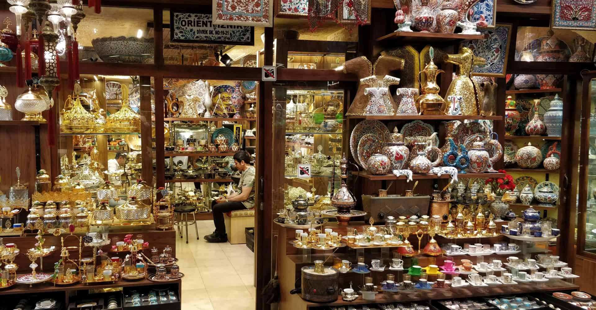 Shop selling authentic Turkish items