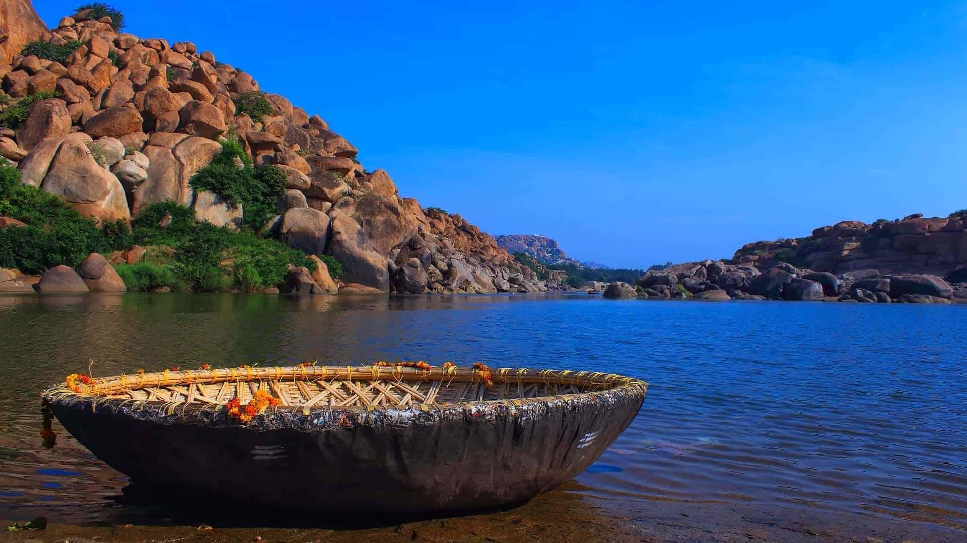 Boating in Hampi