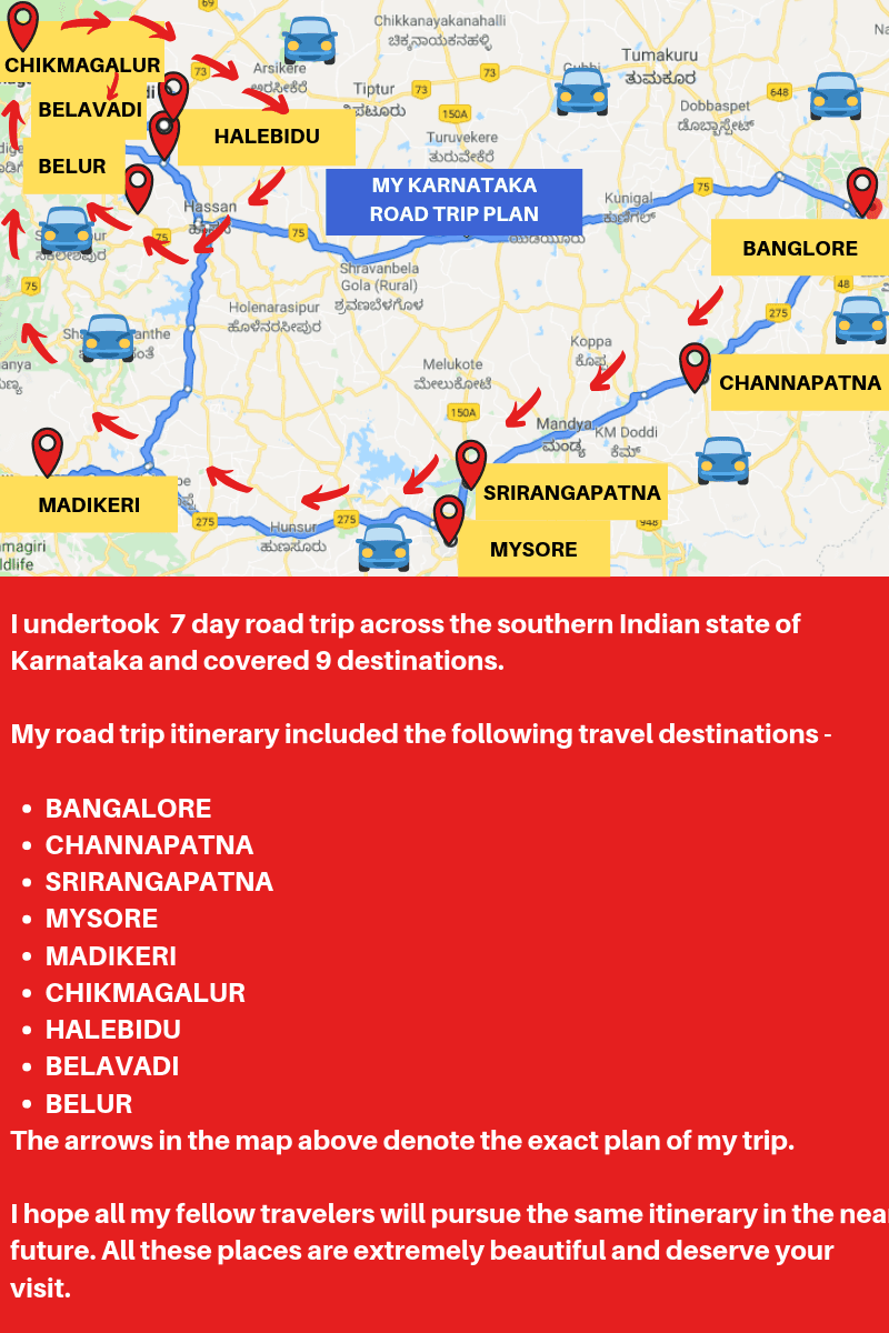 Karnataka road trip plan