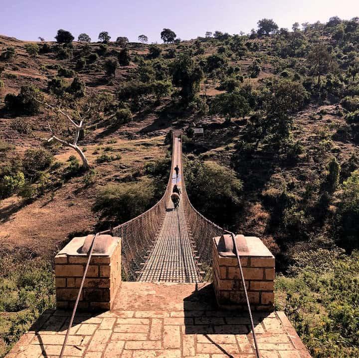 Suspension Bridge Blue Nile Falls