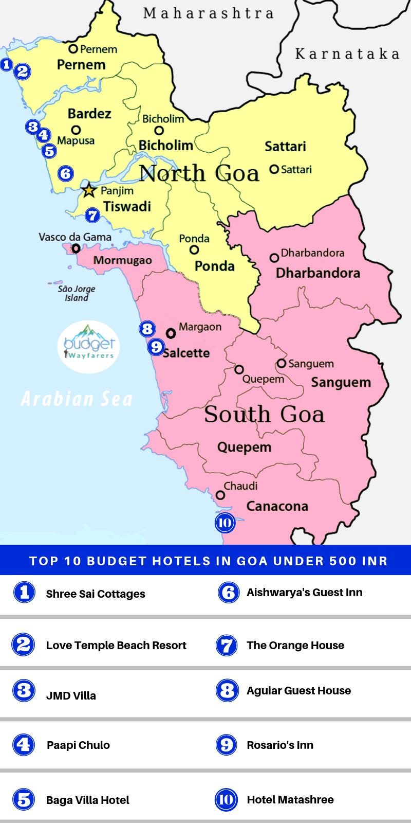 Budget Hotels in Goa under 500 INR-min