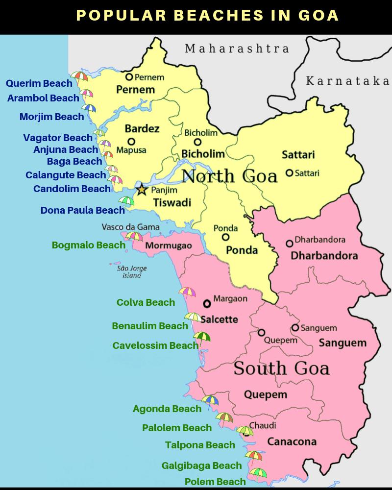 popular beaches in Goa