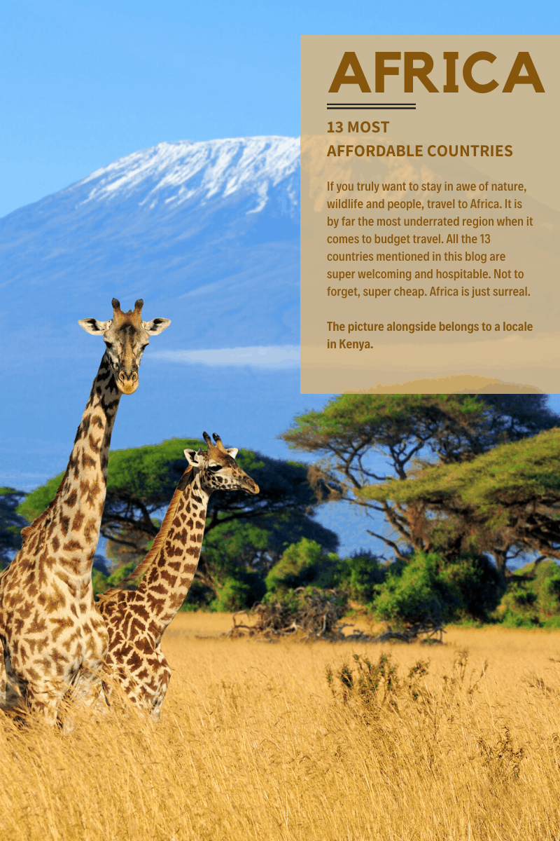 Cheapest African countries for Indian travellers