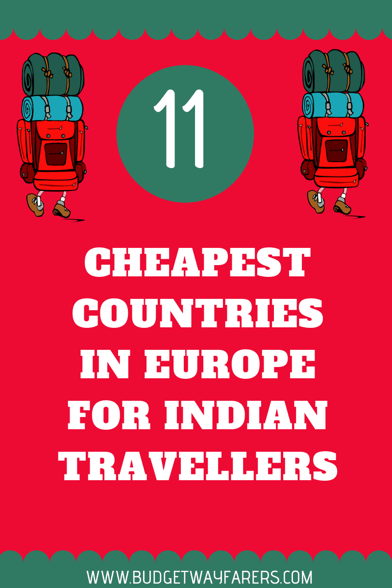 Cheapest European countries for Indian travellers