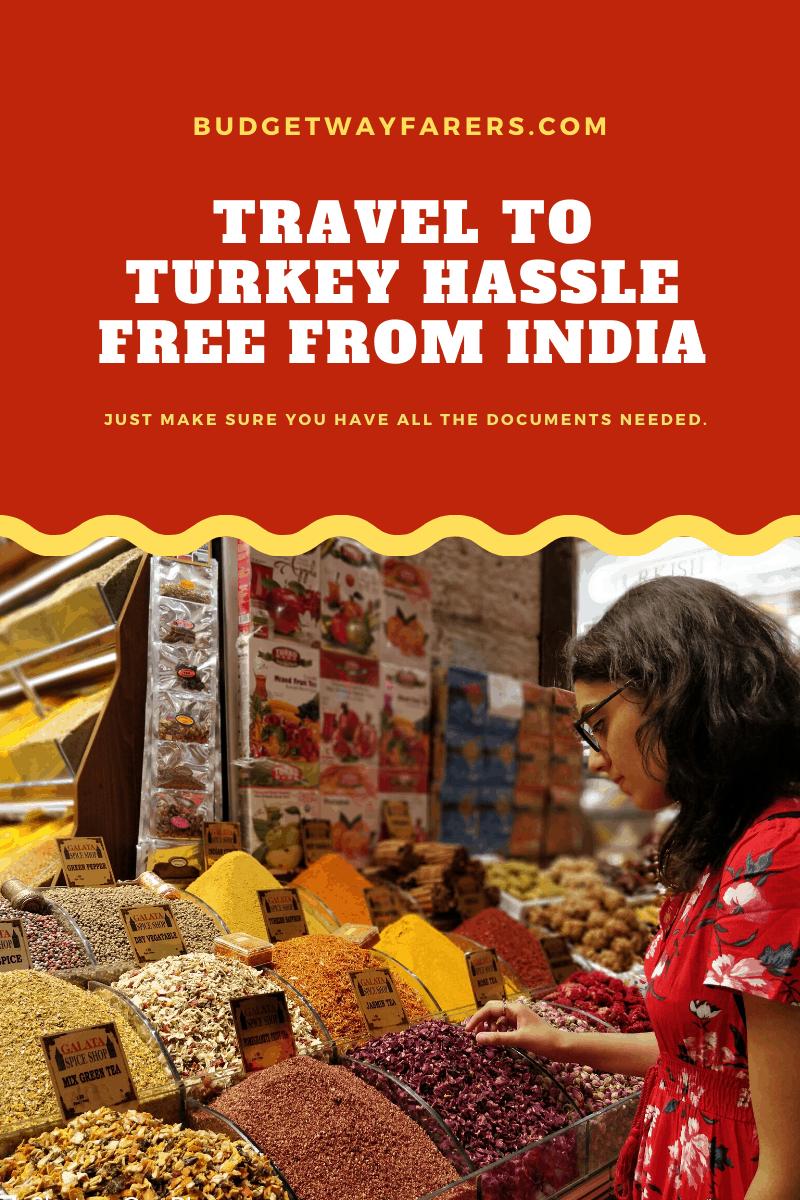 Turkish visa requirements for Indians